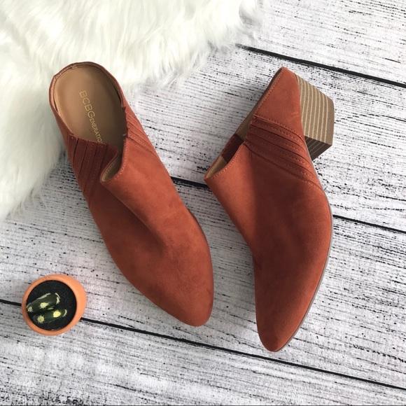 BCBGeneration Shoes - BCBGENERATION Cognac Pointed Toe Mules 00569
